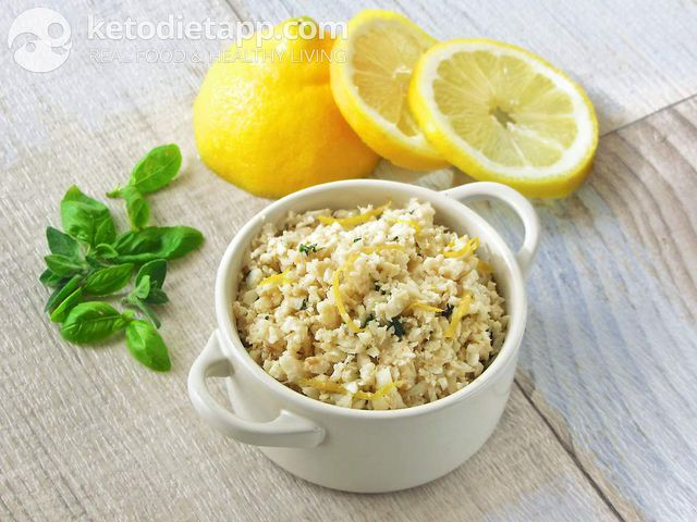 "Creamy lemon ""rice"""