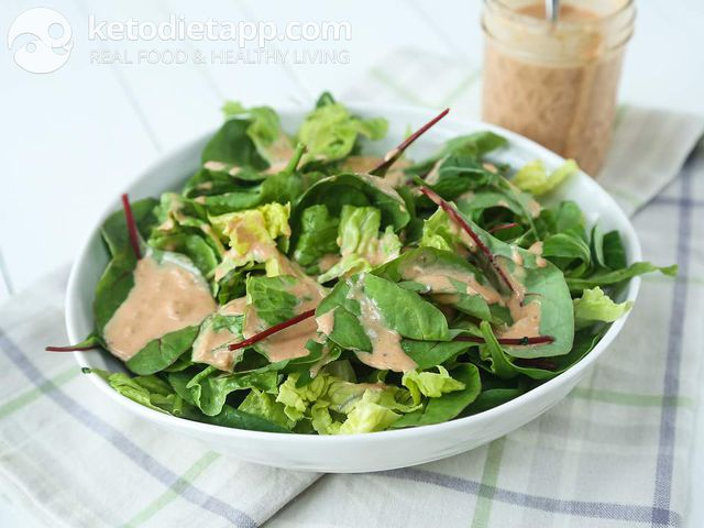 Easy 1000 island green salad