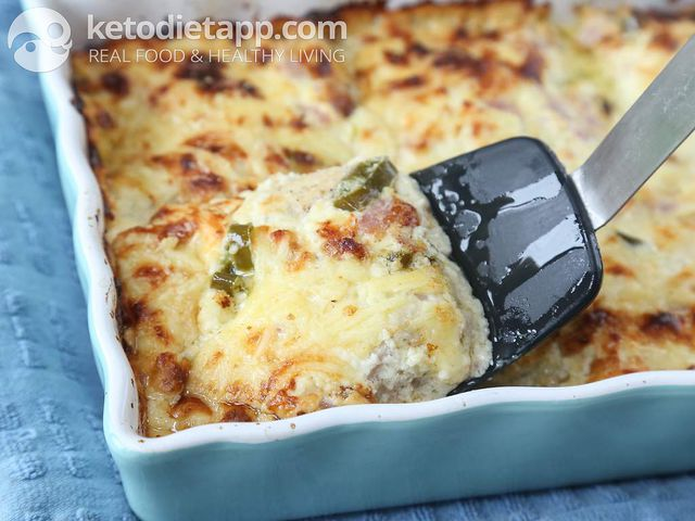 Chicken & jalapeno popper casserole