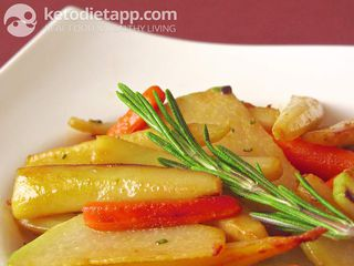 Grilled root vegetables