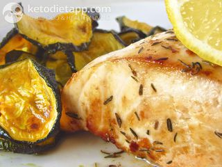 Roasted butterfish with herbs