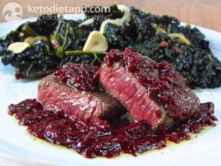 Tender venison steaks