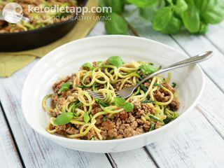 Turkey ragu with zoodles