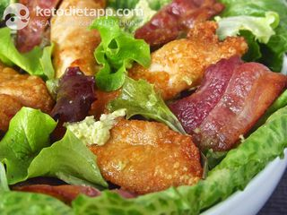 "Crispy Caesar salad with ""avonnaise"""