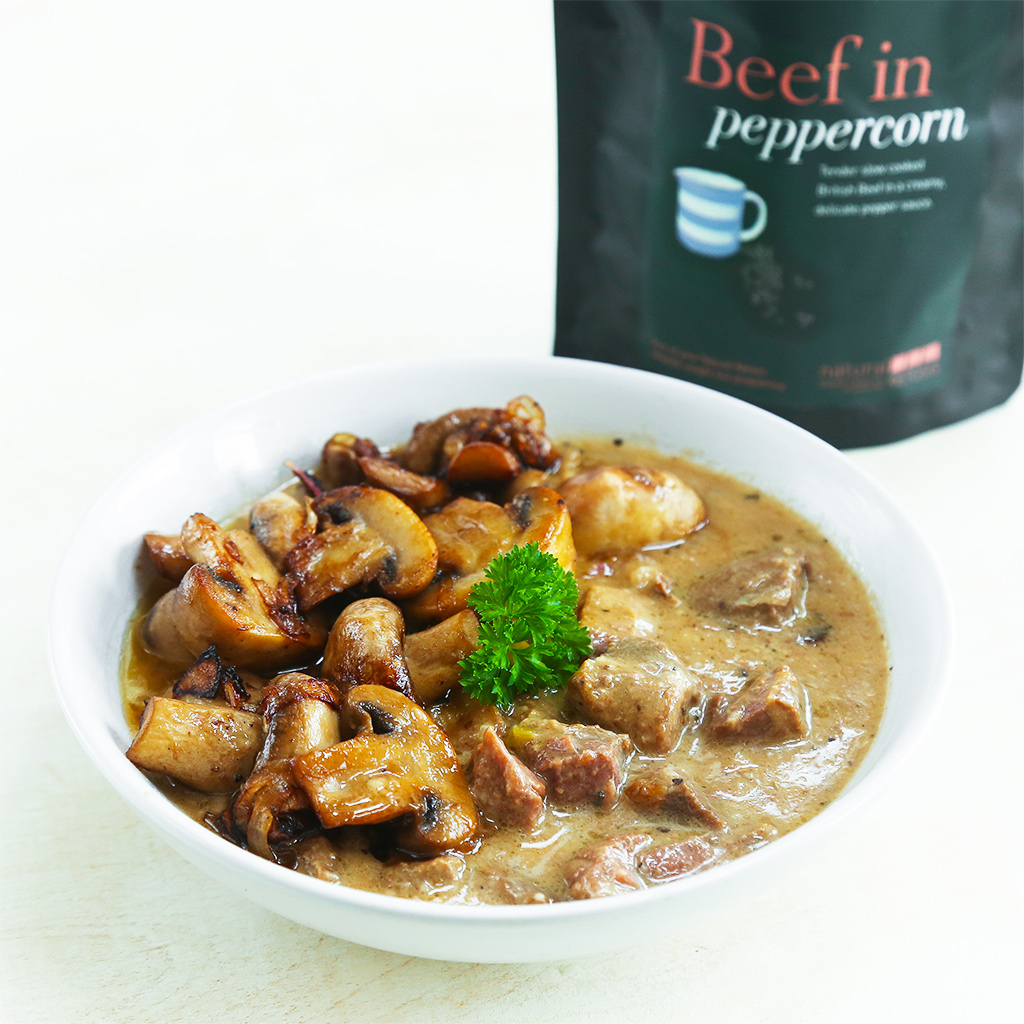 Beef in Peppercorn