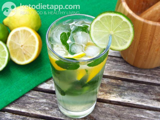 Low-carb virgin Mojito