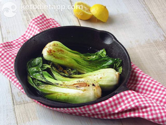 Lemon braised bok choy