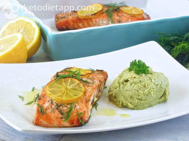 Lemon baked salmon