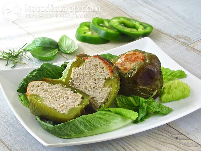 Meat-stuffed green peppers