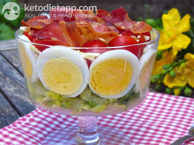 Layered Chef salad