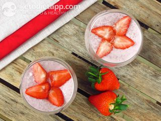 "Strawberry breakfast ""pudding"""
